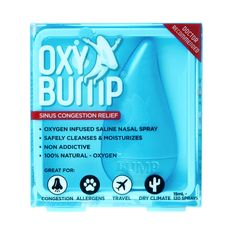 Oxy Bump Sinus Congestion Relief Saline Nasal Spray - 15 ml Sinus Congestion Relief, Chest Congestion, Sinus Remedies, Allergy Remedies, Allergy Symptoms, Natural Remedies, Saline Nasal Spray, Dry Nose