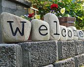 Welcome Engraved Small Sandstone Blocks / or paint name or house numbers
