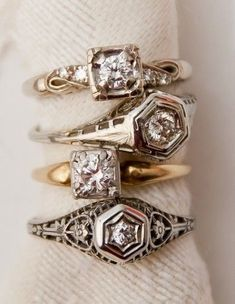 Art Deco engagement rings from @Paris Hotel Boutique + jewelry appraisal tips! #JewelryAppraisal