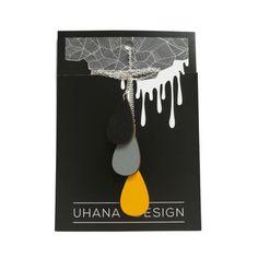 Pisarakaulakoru, musta-harmaa-keltainen   Weecos Design