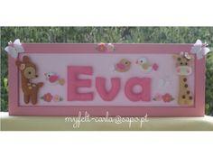 Felt Name Banner, 3 letters, Framed Felt, Wall Decor, Felt Personalized Animal, Newborn Gift, Nursery Decoration, Gift Baby Shower