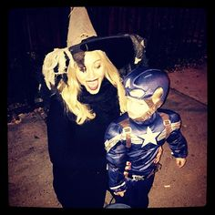 Hilary Duff got SO adorable with her son, Luca Comrie, on Halloween.