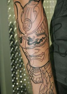 Samurai mask tattoo | Samurai Warrior Mask Tattoo