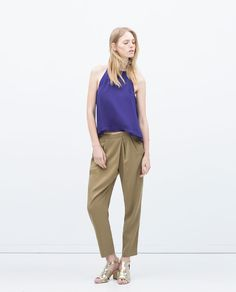 Image 1 of HALTER NECK BLOUSE from Zara