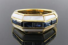 Ferro Jewelers - Estate Jewelry | SAPPHIRE AND MOTHER OF PEARL RING