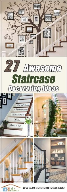 27 Awesome Staircase Decorating Ideas Youve Never Thought Of Stairway Decorating Awesome Decorating Ideas Staircase Thought Youve Staircase Wall Decor, Stairway Decorating, Stair Decor, Decorating Ideas, House Staircase, Staircase Ideas, Decor Ideas, Hallway Ideas, Wall Ideas