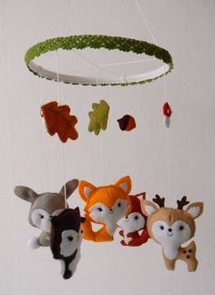 Baby mobile Woodland animals