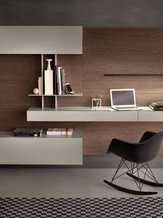 This sophisticated multimedia unit by Studio IQ is perfect for use as a work space throughout the day. Available from IQ Furniture. unit With Study Table Study Table Designs, Study Room Design, Living Room Tv Unit Designs, Office Interior Design, Home Office Decor, Office Interiors, Home Decor, Ikea Office, Luxury Interior