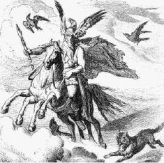 §§§ . Odin the Wanderer riding his eight-legged horse