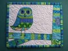 Owl mug rug... Cute!