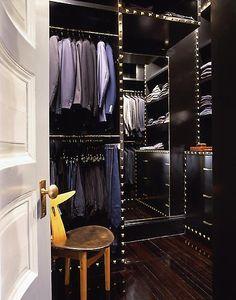 a man's closet.
