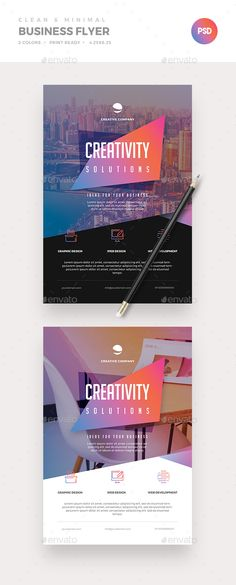 Minimal Business Flyer — Photoshop PSD #graphic #logo • Download ➝ https://graphicriver.net/item/minimal-business-flyer/21401908?ref=pxcr
