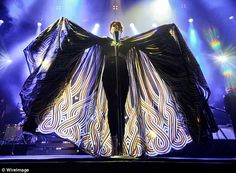 She is unreal - Florence Welch, in the cape designed by Alex Noble.  Love the pattern!!