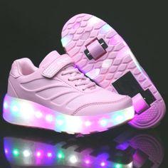 Secrets Of Sneaker Shopping – Sneakers UK Store Glow Up Shoes, Light Up Shoes, Lit Shoes, Light Up Roller Skates, Roller Skate Shoes, Sneakers With Wheels, Kawaii Accessories, Kids Backpacks, Dream Shoes
