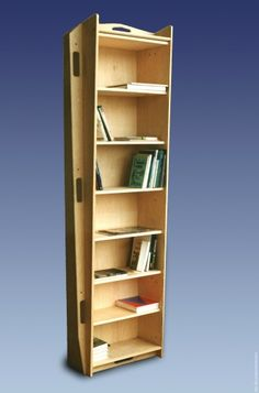 Kist-kast: Foto: Ibisproduct Buy this in life to use as a bookcase, then as a casket at your funeral! Bookshelves, Bookcase, Library Store, Hidden Spaces, Old Libraries, Dream Library, Casket, Coffin, Painted Furniture