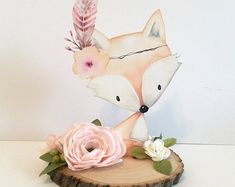 Woodland Baby Shower Decor Centerpieces Nursery Centerpiece Decorations Flowers Floral Pink Girl Baby Showers Welcome Boy Fox Animal Cut Out - New Deko Sites Baby Girl Shower Themes, Girl Baby Shower Decorations, Girl Decor, Baby Shower Centerpieces, Baby Decor, Baby Boy Shower, Centerpiece Decorations, Decoration Table, Floral Centerpieces