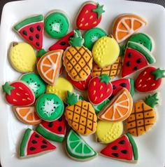 Fruits mini sugar cookies or large 3.5 by SweetArtSugarCookies