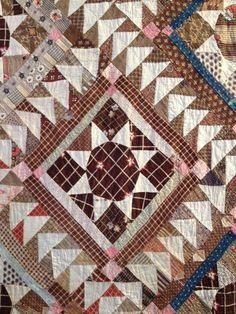 Beautiful 19th century quilt bra Julie Silver block