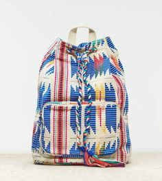AEO Boho Embroidered Bucket Backpack - American Eagle Outfitters
