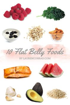 Foods for the flat belly!