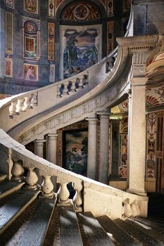 La scala regia del palazzo Farnese a Caprarola, Italy | ganagafoto | Flickr - Photo Sharing!