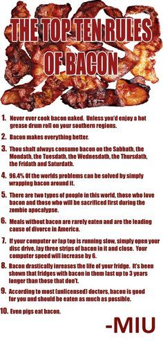 Ten Commandments of Bacon