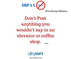 As a general rule of thumb, if you wouldn't say your comment in public, then don't put it on social media. If there is any doubt at all about a certain post, picture or comment then check with your compliance officer or even a colleague before publishing. #HIPAA #Education