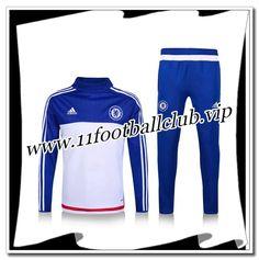 Le Nouveaux Survetement de foot Chelsea Bleu Blanc 2016 2017 Officiel 4d4e62b7a3b61