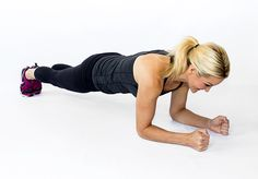 brooke griffin doing a forearm plank