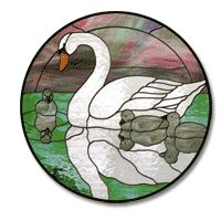 Free Pattern, Swan Circle - Glass Crafters