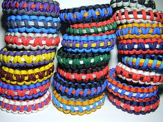 NBA teams colored paracord bracelets.