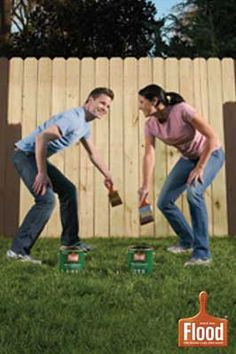 DIY staining. Easily stain decks, fencing, siding and outdoor furniture with Flood Wood Care.