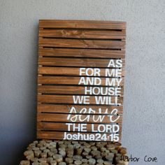 OMG Im gonna have to have this! As For Me And My House We Will Serve The Lord Rustic by HarborCove, $69.00
