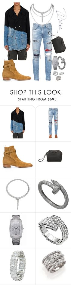 """""""Met Gala / COMME des GARCONS"""" by stylinwitdre ❤ liked on Polyvore featuring Greg Lauren, AMIRI, Yves Saint Laurent, Givenchy, Bulgari, Piaget, Chopard, Marco Bicego, men's fashion and menswear"""
