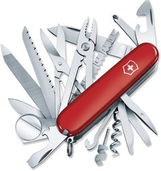 Victorinox Champ Swiss Army Knife. I've had this exact knive before, but unfortunately, I lost it on a camping trip. Never again!