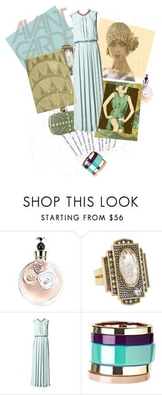 """""""Timeless Design"""" by mponte ❤ liked on Polyvore featuring Valentino, Moritz Glik, Alexander McQueen, By Malene Birger, mint green, art deco, gold, bracelet, purple and bangles"""