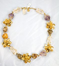 Couture YSL Necklace by Robert Goosens | From a unique collection of vintage more necklaces at http://www.1stdibs.com/jewelry/necklaces/more-necklaces/