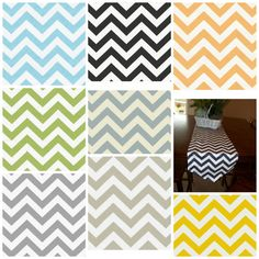 Chevron Table Runner   Choose your Length   by MiaBellaPillowCo, $19.00