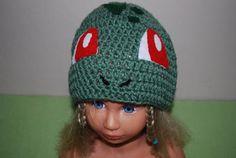 Bulbasaur hat. Pokemon rule. Gotta crochet them all!