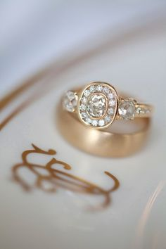 Pave-Diamond-Heirloom-Engagement-Ring