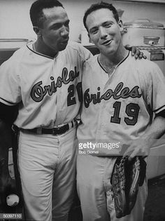 Orioles teammates Frank Robinson & Dave McNally, after defeating the Dodgers in the world series. Get premium, high resolution news photos at Getty Images Baltimore Orioles Baseball, Baseball Star, Baltimore Ravens, Baseball Cards, Mlb Players, Baseball Players, Mlb Uniforms, American League, World Series