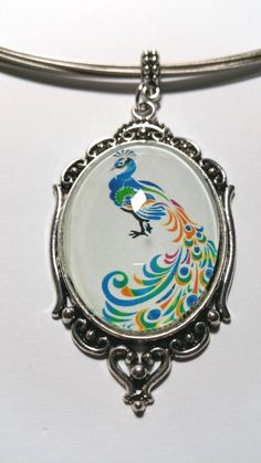 """Pendant """"Peacock 4"""" - pinned by pin4etsy.com Etsy Jewelry, Pocket Watch, Peacock, My Design, Etsy Shop, Pendant, Unique, Earrings, Prints"""