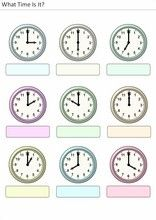 Printable activities for kids What time is it? Printable Activities For Kids, Printable Worksheets, Printables, What Time Is, Exercise For Kids, Elementary Schools, Education, Ideas Para, Montessori