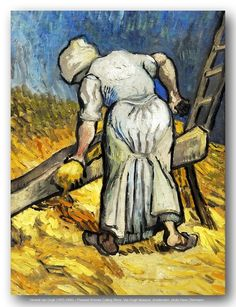 Vincent van Gogh (1853-1890) – Peasant Woman Cutting Straw. Van Gogh Museum.   Flickr - Photo Sharing!