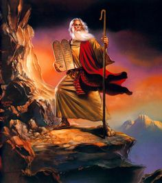 Moses by Boris Vallejo Wallpaper Bible Art, Bible Scriptures, Image Jesus, Religion, Moise, Bible Pictures, Ten Commandments, Biblical Art, Boris Vallejo