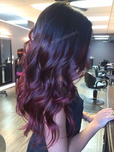 Red violet ombre red ombre long hair curls redhair beauty ombre auburn ombre  I absolutely love this!!