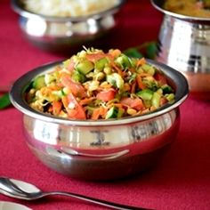 Low fat Sprouted Mung Bean Salad recipe