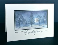 dramatic card with blue sponged sky and silhouette trees from Lovely as a Tree... Stunningly beautiful.