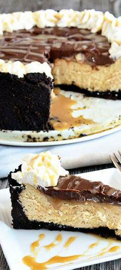 Salted Caramel Cheesecake with Chocolate Ganache