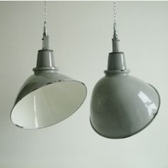 Love these lights.  We have some just like this from an old factory.